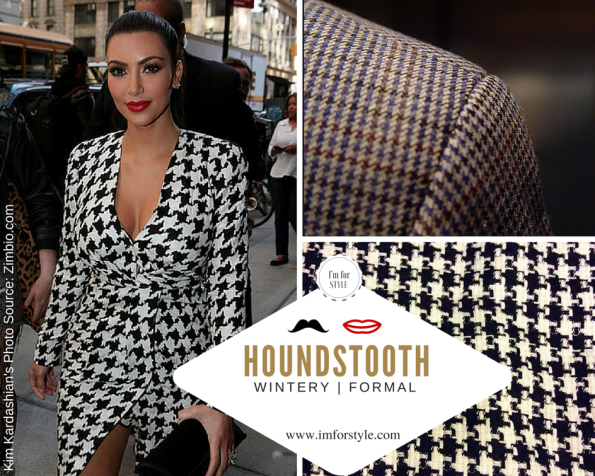 Kim Kardashian in Houndstooth Dress |Formal Blazer for a corporate look