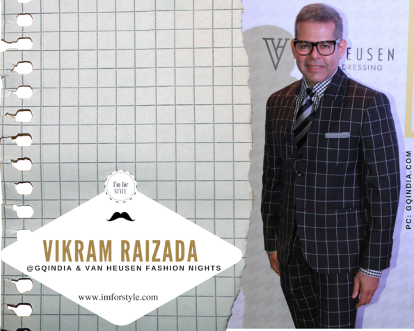 Vikram Raizada, senior retail & Luxury Professional, India Prower Dressed in a Windowpane Check Suit @GQIndia event
