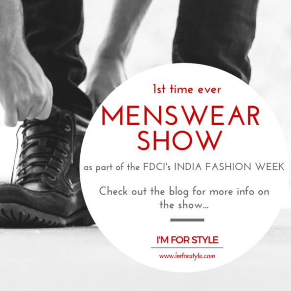 menswear shows in india, menswear, fashion show, fdci, 1st time ever
