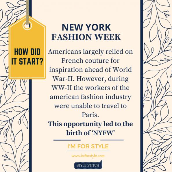 Fashion week, history of fashion week, NYFW, origin of fashion week, fashion facts,