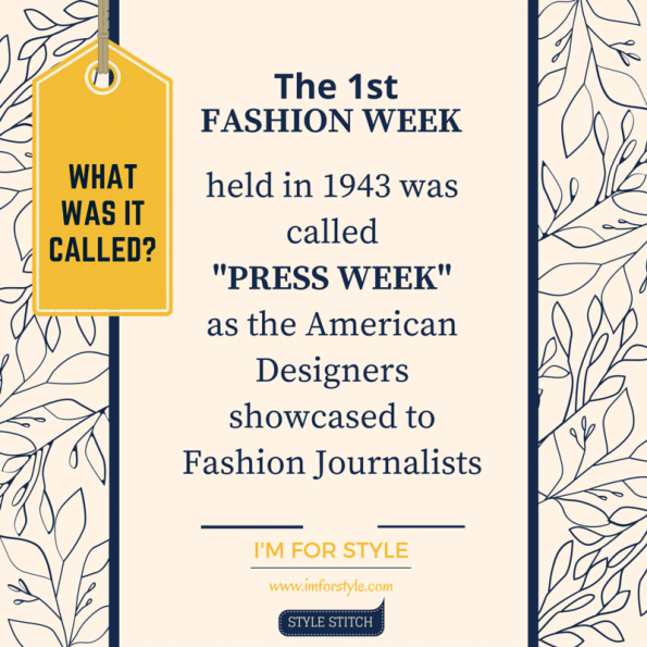 Fashion week, history of fashion week, NYFW, origin of fashion week, fashion facts,