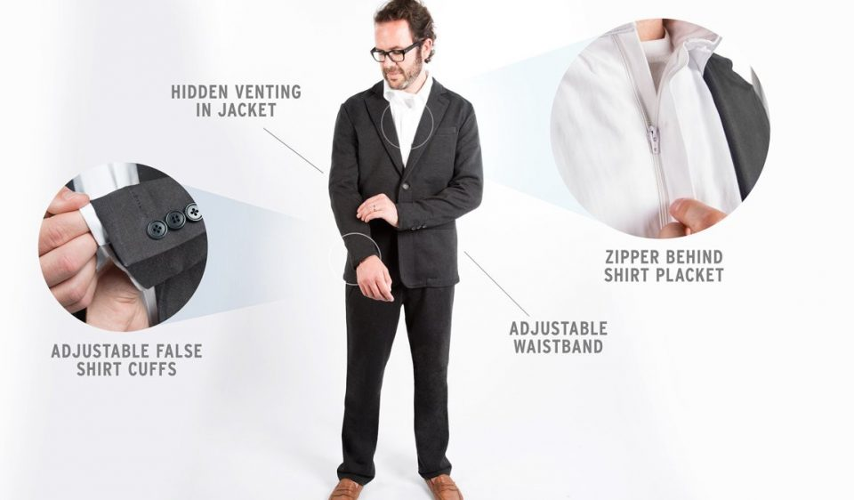 suitsy, business suit onesie,
