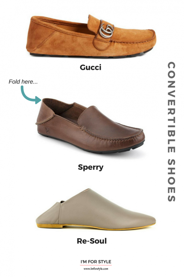 summer 2017 menswear trends, imforstyle, convertible shoes, menswear, men style, shoes, trends 2017,