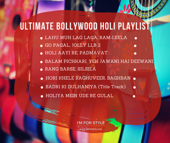 holi playlist, music for holi, bollywood holi songs,